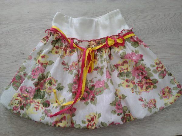 Детска пола с принт рози
