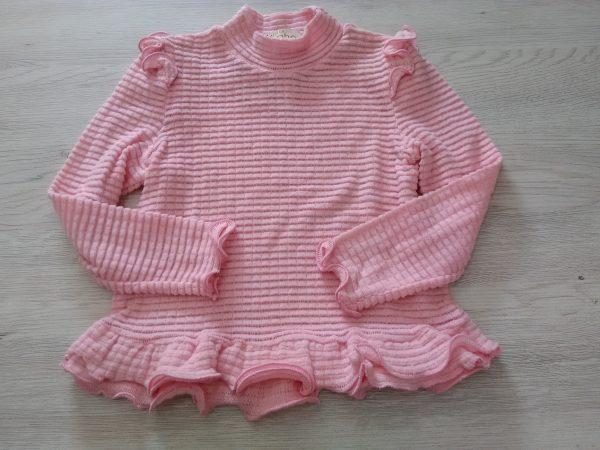 Детска блузка с къдрици