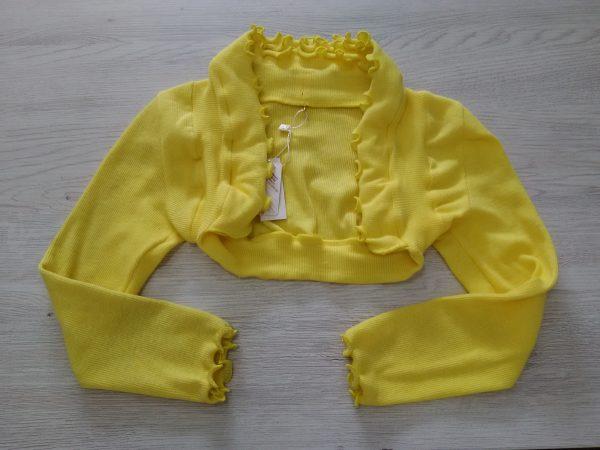 Детско болеро жълт