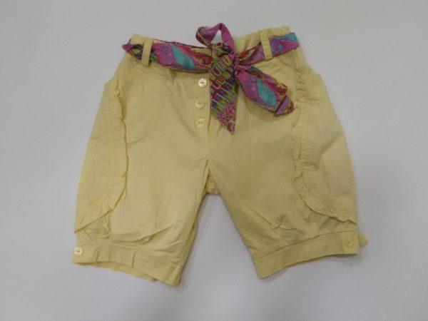 Детски къс панталон с флорално коланче