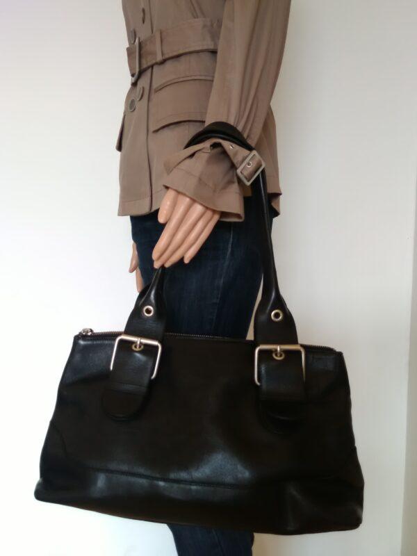 Дамска чанта Massimo Dutti естествена кожа